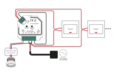Universal Smart Dimmer für R- L- C-Lasten dimmbare 230V LED-Lampen und Triac `s, max. 400Watt – Bild 4
