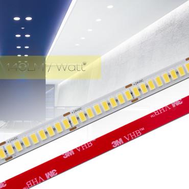 0,5 bis 20m 140LM/Watt LED Strip Flex Band RA 90+, Leiste Streifen NEUTRAL WEIß 5630 224 LED/m 24Vdc – Bild 1
