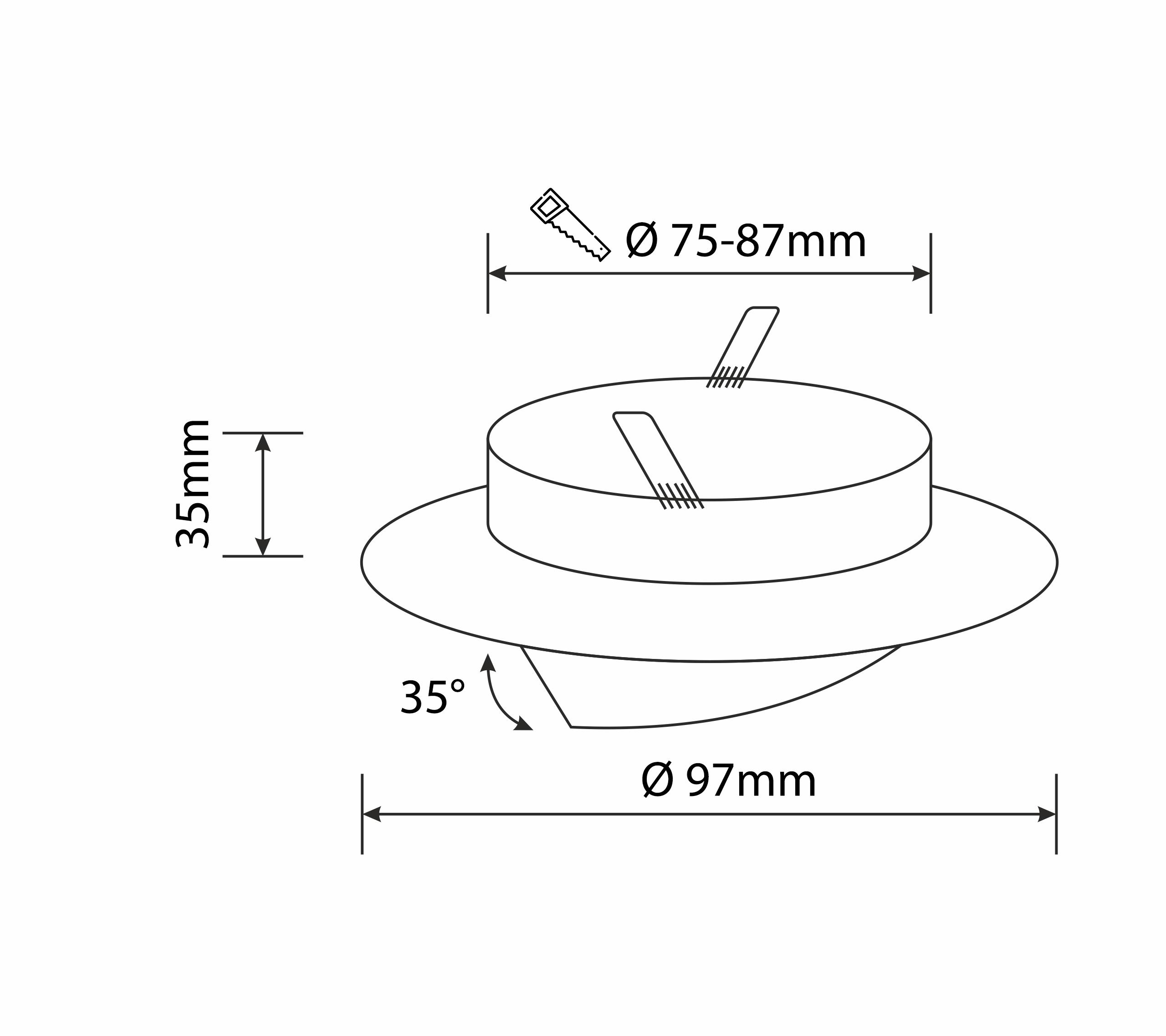 6x LED Einbaustrahler Set 5-7 Watt schwenkbar rund MR16 12V Einbauspot 65mm
