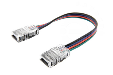 10mm RGB Schnell Verbinder für LED Streifen 2-Pin Adapter Strip / Stripe – Bild 1