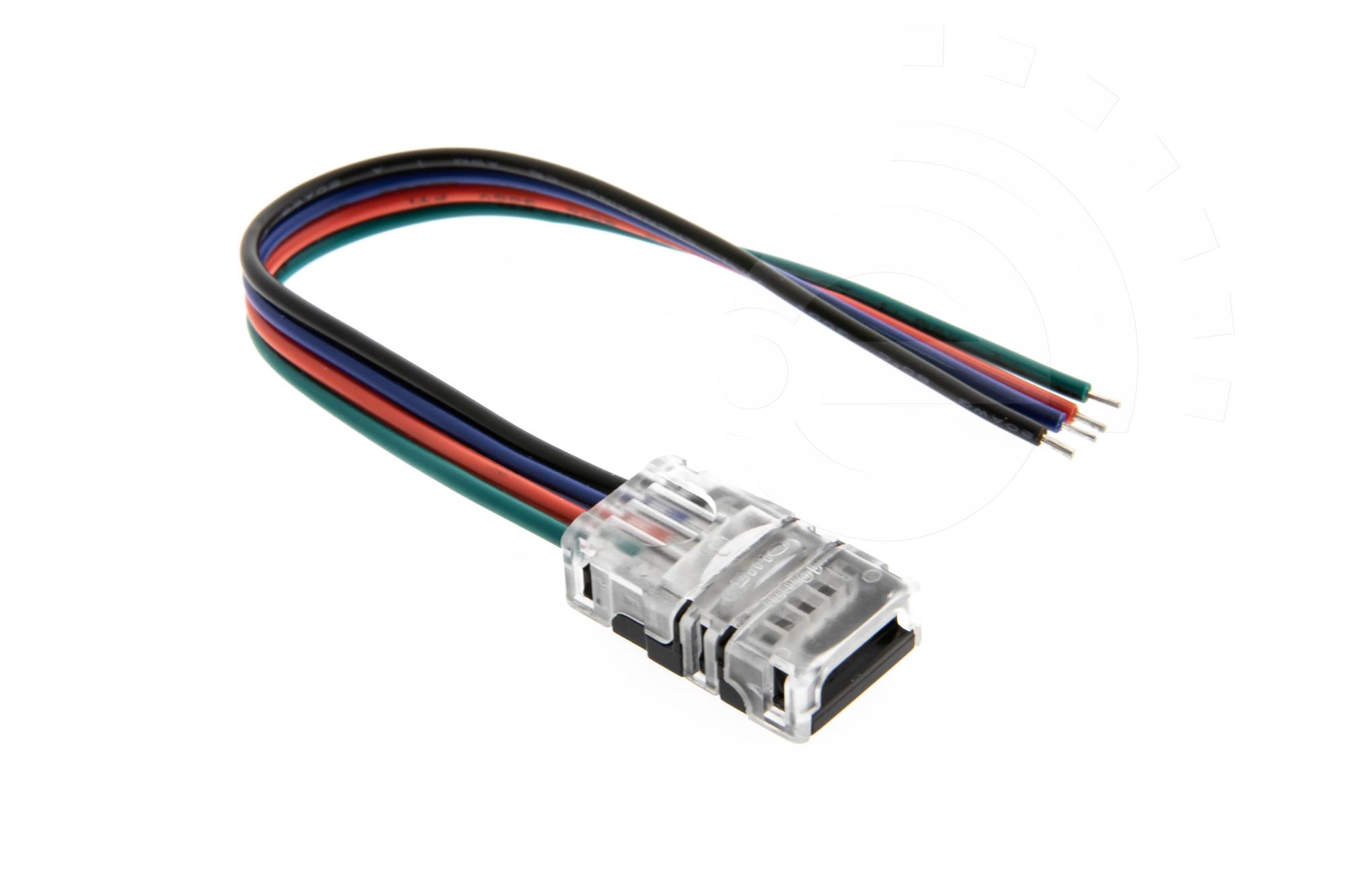 10mm RGB Schnell Verbinder für LED Streifen 2-Pin Adapter Strip / Kabel