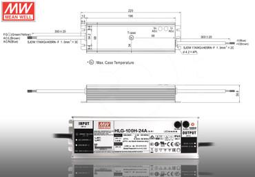 LED Netzteil MeanWell HLG A-Serie 12 - 54V Schaltnetzteil IP65 Trafo 40 - 600 W – Bild 6
