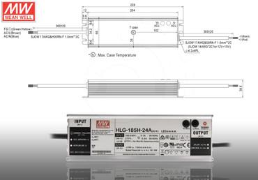 LED Netzteil MeanWell HLG A-Serie 12 - 54V Schaltnetzteil IP65 Trafo 40 - 600 W – Bild 9