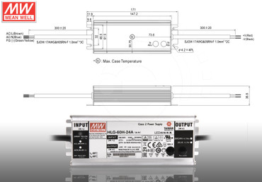 LED Netzteil MeanWell HLG- Serie 12 15 20 24 30 36 42 48 54V Schaltnetzteil IP65 – Bild 4