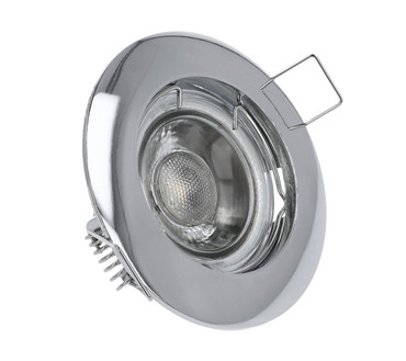 LED Einbaustrahler | Chrom | Alu-Druckguss | GU10 MR16 | 2847 – Bild 1