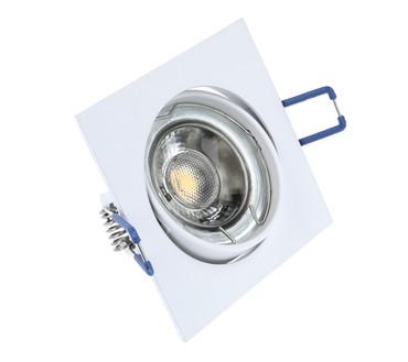 LED Einbaustrahler | Eckig | Weiß | Alu-Druckguss | Schwenkbar | GU10 MR16 | 2977 – Bild 1