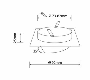 LED Einbaustrahler | Schwarz | Alu | Eckig | Schwenkbar | GU10 MR16 | 1208 – Bild 4