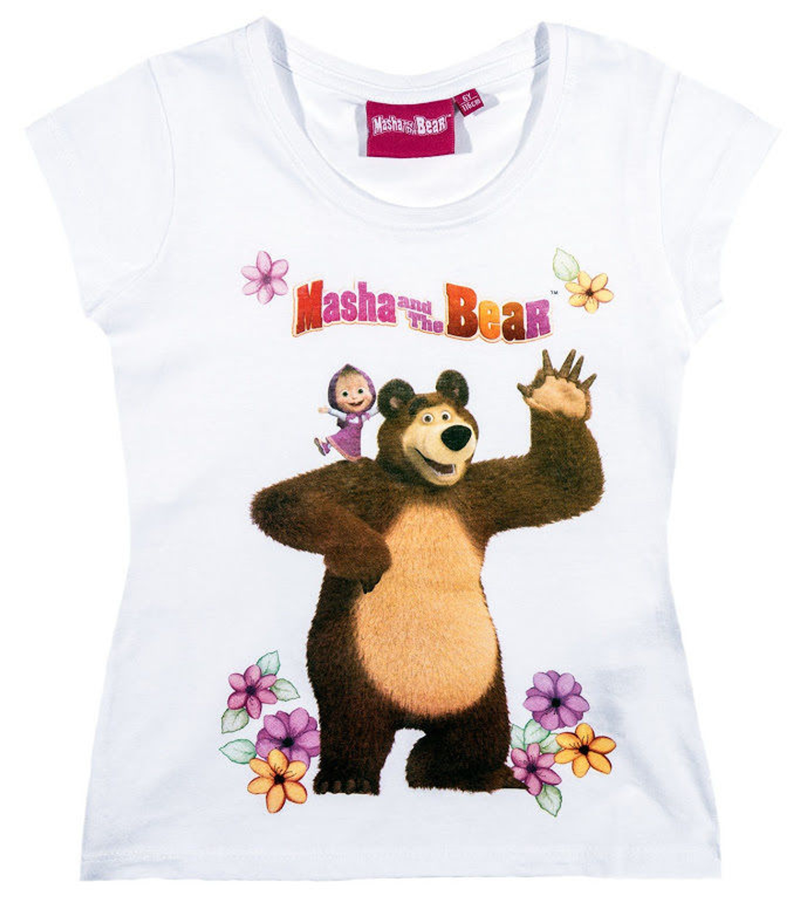 Masha and the Bear kurzarm T-Shirt Masha und der Bär