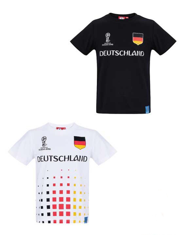 Fifa Fussball Wm 2018 Kinder T Shirt Gr 104 152 Deutschland Trikot