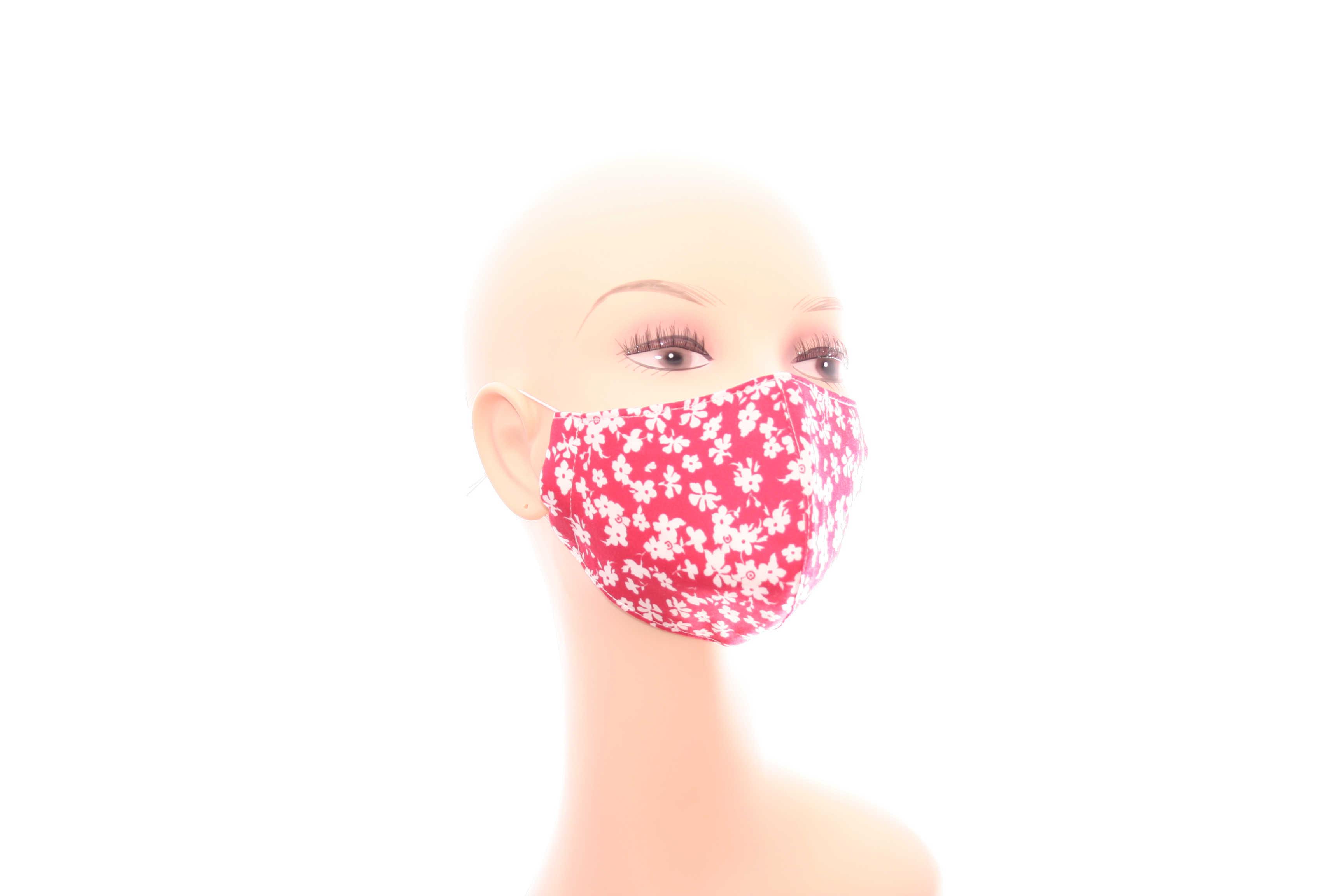 Florale Stoffmasken