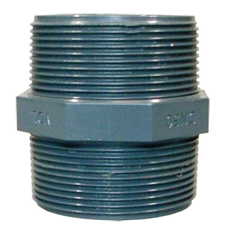 PVC-Doppelnippel mit Außengewinde