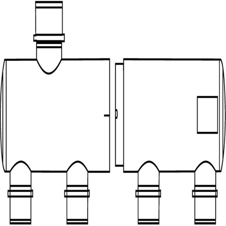 Multi-Verteiler 63 mm Eingang 2 x 50 mm Ausgang – Bild 2