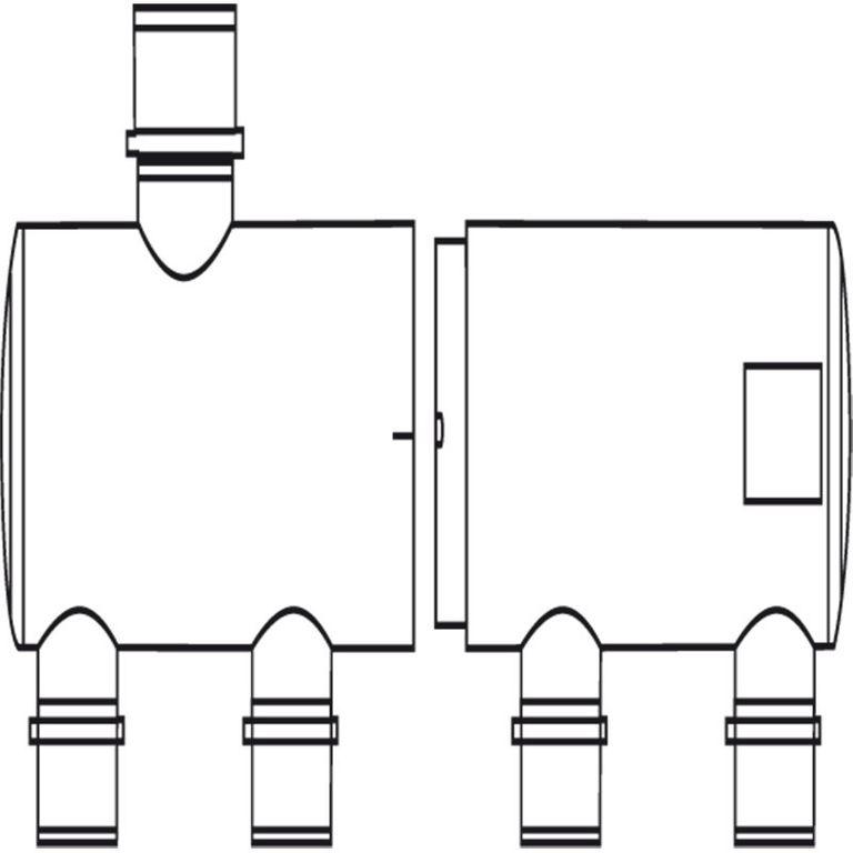 Multi-Verteiler 63 mm Eingang 2 x 50 mm Ausgang – Bild 4
