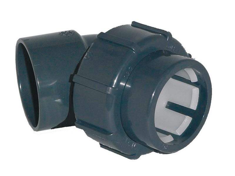 Klemmverbindung x Klebemuffe Winkel 45° - 50 x 50 mm