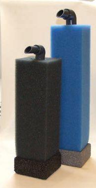 Vanya Aquariumfilter 10x10x32/40, inkl. Luftheber, Bodenplatte und Filterschaum mittel