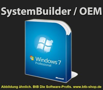MS Windows 7 Pro SP1 64 Bit DVD dt. Systembuilder