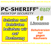 EDU PC Sheriff Easy 16 User Lizenz ESD Downloadversion