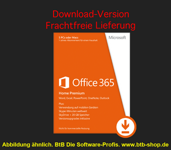 MS Office 365 Home  1 Jahr Subscription ESD