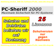 PC Sheriff Premium 25 User Lizenz Schulversion/EDU