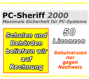 PC Sheriff Premium 50 User Lizenz Schulversion/EDU