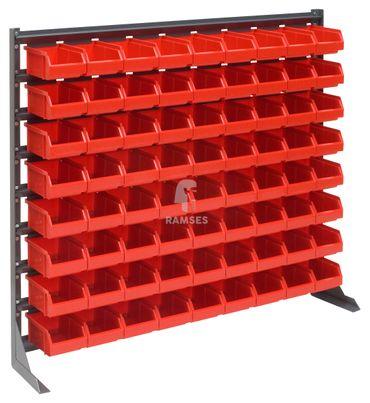 EisenRon DS-tec - Kleinteileregal  Farbe: rot 72 rote Lagerboxen 160 X 95 X 75 mm Höhe: 90 cm Breite: 102,5 cm