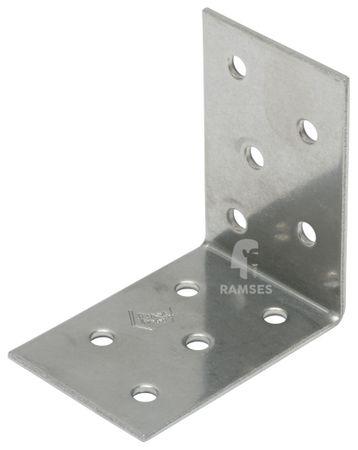 EisenRon DS-tec - Lochplattenwinkel A2  60 X 60 X 40 X 2,5 mm  mit Zulassung (ETA)  Edelstahl A2 blank  1 Stück