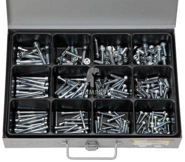 EisenRon DS-tec - Sortiment Innen Sechskantschrauben DIN 912 VZ, Güte 8.8, 5 x 20 - 8 x 50 mm  205 Teile