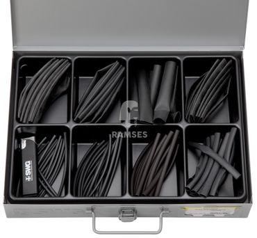 EisenRon DS-tec - Sortiment Wärmeschrumpfschlauch Schrumpfrate 2:1, 10cm Stücke, 2,4 - 1,2 -25,4 -12,7 mm  360 Teile