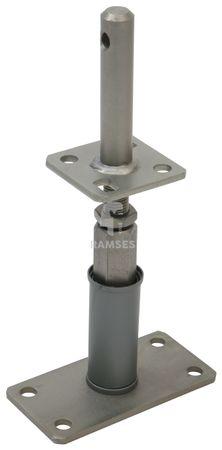 EisenRon DS-tec - Stützenschuh Edelstahloptik höhenverstellbar mit Dolle 24 X 120 X 135 - 200 mm Stahl Edelstahloptik  1 Stück