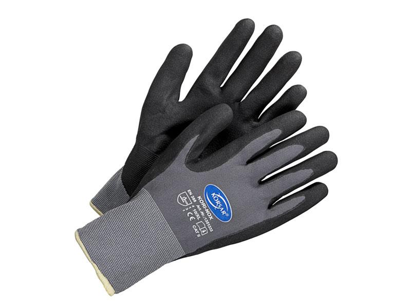 Neuankömmlinge elegante Form Angebot Arbeitshandschuhe schwarz / grau - KORSAR® Kori-Nox Größe 9 / L
