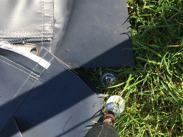 Schraubheringe Camping Set 10 Stück 10x300 mm Schrauben mit Scheiben und Bit – Bild 5