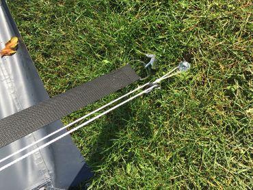 Schraubheringe 1 Stück 10x240 mm Tellerkopfschraube mit Scheibe für Camping – Bild 6