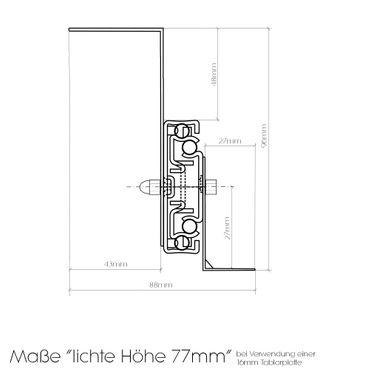 Tastaturauszug in Ahorn Dekor 80x40 cm Nutzhöhe XL 77mm zum Nachrüsten - eigene Herstellung – Bild 5