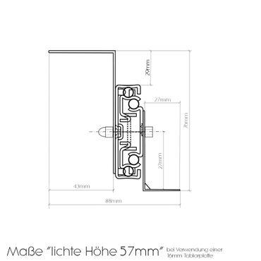 Tastaturauszug in Alu grau 60x30 cm Nutzhöhe 57mm zum Nachrüsten - eigene Herstellung – Bild 5