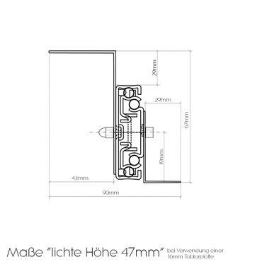 Tastaturauszug in Alu grau 80x30 cm Nutzhöhe 47mm zum Nachrüsten - eigene Herstellung – Bild 5