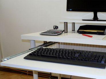Tastaturauszug in Buche Dekor 60x30 cm Nutzhöhe 47mm zum Nachrüsten - eigene Herstellung – Bild 2