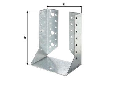 Balkenschuh innen 120x160 mm - ETA Zulassung - Sendzimirverzinkt