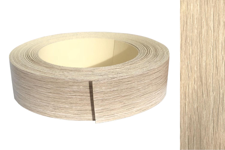 Kantenumleimer Melamin 45mm x 5m mit Schmelzkleber in Eiche natur Dekor
