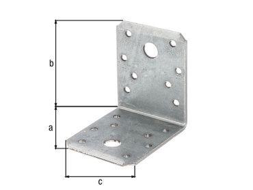 Metall-Winkelverbinder 70 x 70 x 55 x 2,5 mm - 50 Stück