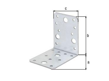 Metall-Winkelverbinder 90 x 90 x 65 x 2,5 mm - 50 Stück