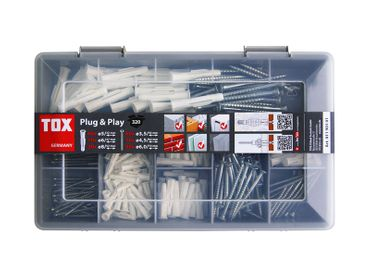 TOX Dübelsortiment-Koffer Trika Plug & Play 320 tlg.