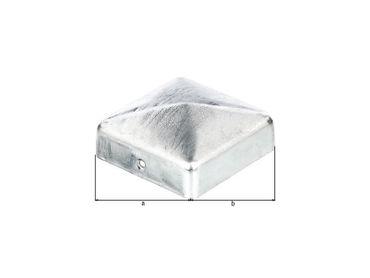 Pfostenkappe flach 70 x 70 mm, verzinkt - inkl. 2 Schrauben – Bild 2