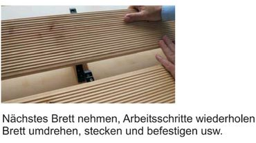 Unsichtbare Terrassenbefestigung 100 Stück für Terrassendielen - OHNE SCHRAUBEN  – Bild 6