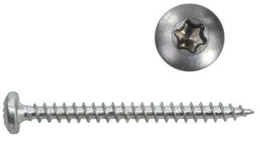 Panheadschrauben Edelstahl 5x30 mm - 100 Stück - Vollgewinde Holzschrauben A2 mit Torx