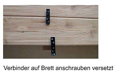 Unsichtbare Terrassenbefestigung auf Holz 100 Stück incl. Schrauben in A2 für ca. 3 m²  – Bild 7