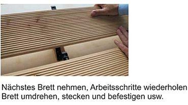 Unsichtbare Terrassenbefestigung auf Alu 100 Stück incl. Schrauben in A2 für ca. 3 m²  – Bild 6