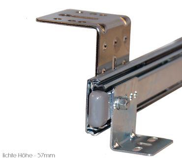 Teleskopschienen 400mm Nutzhöhe 57mm für Tastaturauszug zur Untertischmontage – Bild 5