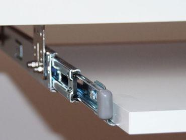 Teleskopschienen 400mm Nutzhöhe XL 77mm für Tastaturauszug zur Untertischmontage – Bild 3