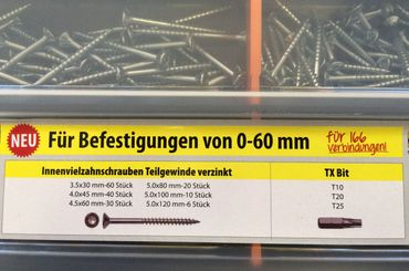 Schraubensortiment mit Bits Torx Sortimentkasten Schraubenbox – Bild 2