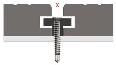 WPC Clips, Befestigungsclips WPC-Dielen inkl. Schrauben - 500 Stück – Bild 4
